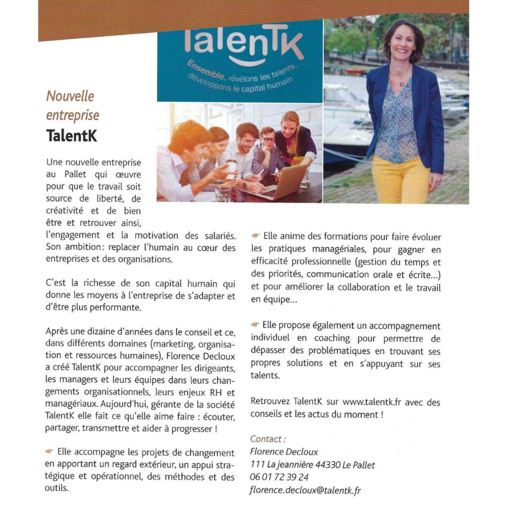 Talentk Gazette Le Pallet